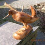 Sculpture sur bois ou l'attrait de la bécasse